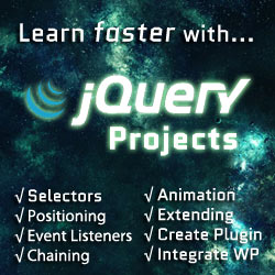 jQuery Projects course discount