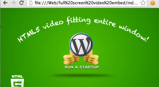 Fullscreen HTML5 Video
