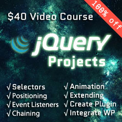 jquery projects course